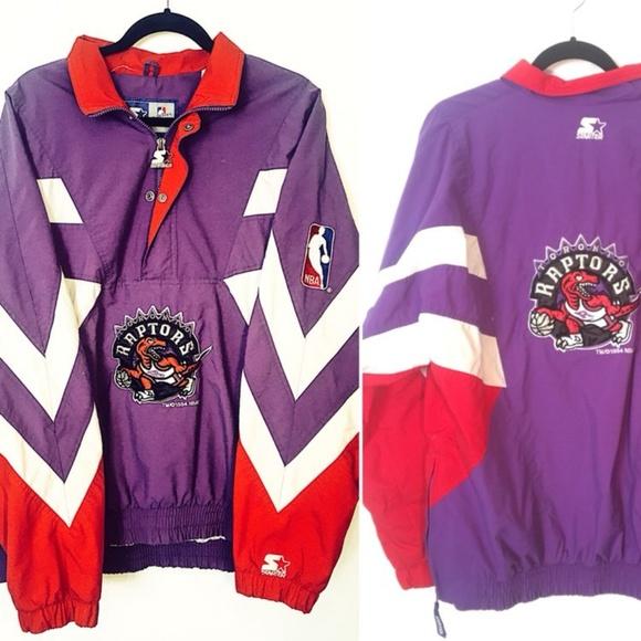 pretty nice 35147 06f36 SALE 90's Toronto Raptors Starter Puffer Pullover